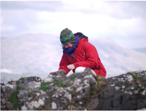 Mary identifying moss in the west of Scotland