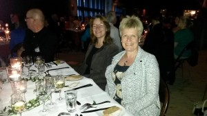 Celia Knight and Saijaliisa Kangasjarvi at the conference dinner