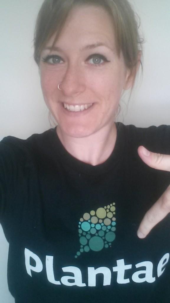 Lisa modeling her Plantae t-shirt!