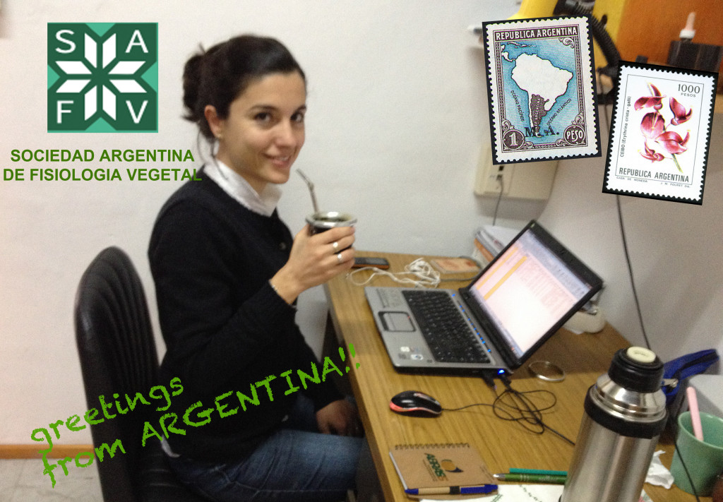 SAFV member Dr Constanza Carrera drinks mate, an infusion made from leaves of Ilex paraguariensis, which is very popular in Argentina, Uruguay and southern Brazil.