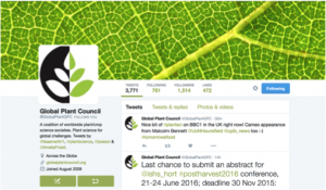 Global Plant Council twitter account
