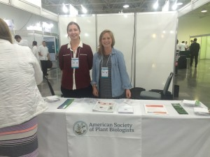 Helping out on the ASPB stand