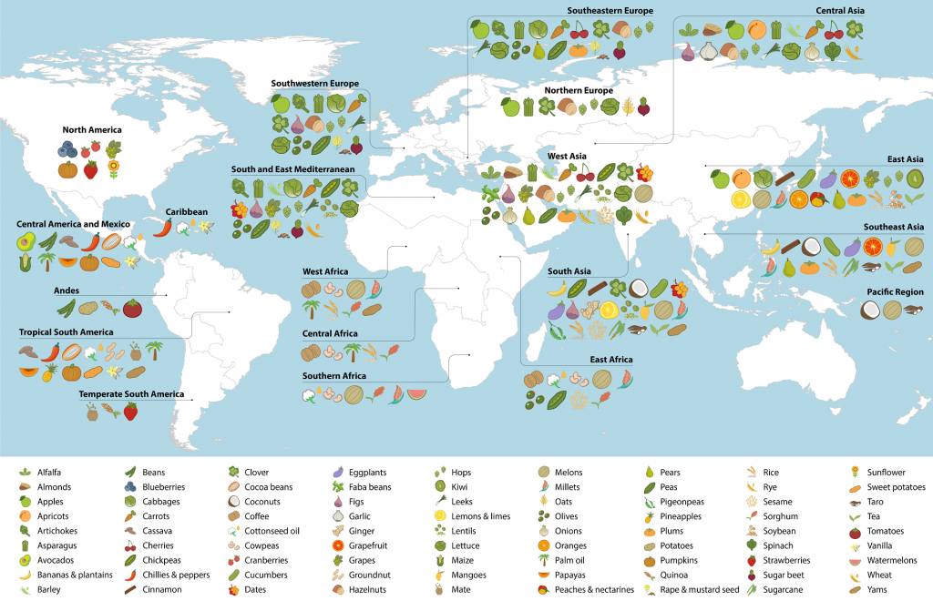 Map of crop diversity